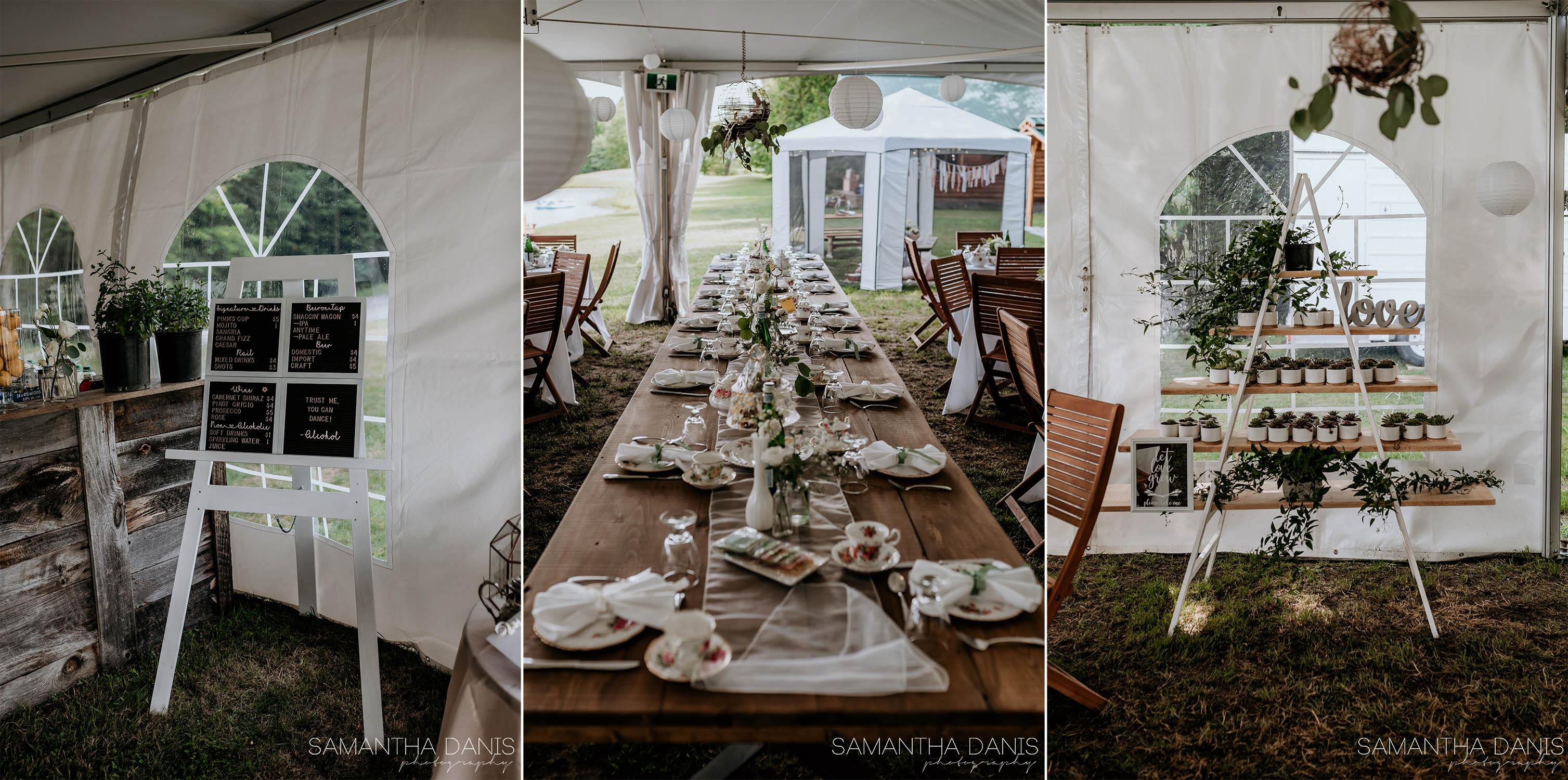 ottawa wedding photographer Samantha Danis Photography Backyard Wedding High Tea
