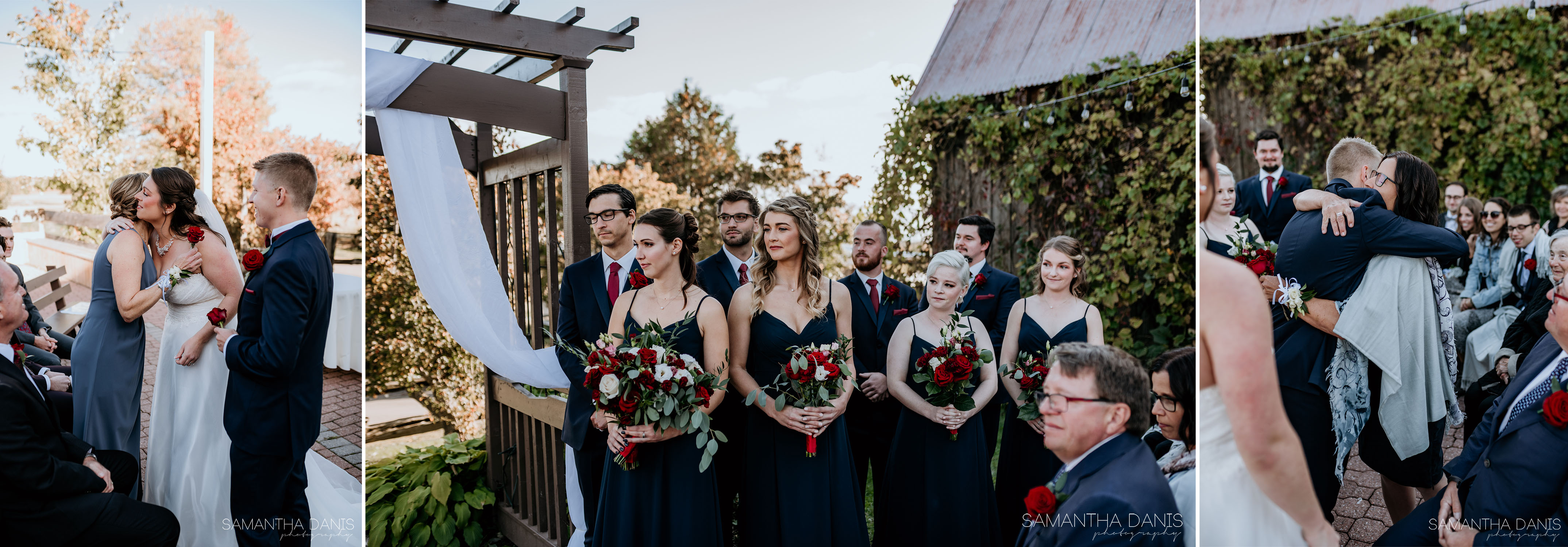 rose ceremony strathmere ottawa wedding fall