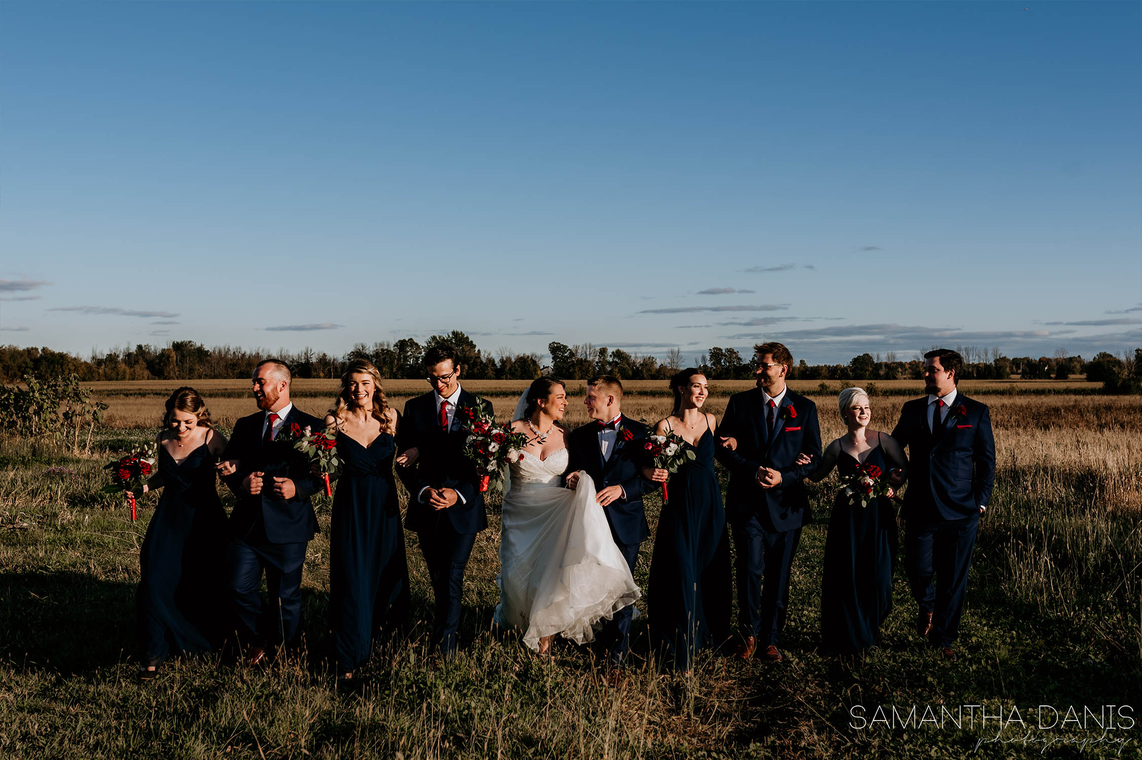Strathmere field wedding party Ottawa Samantha Danis Photography