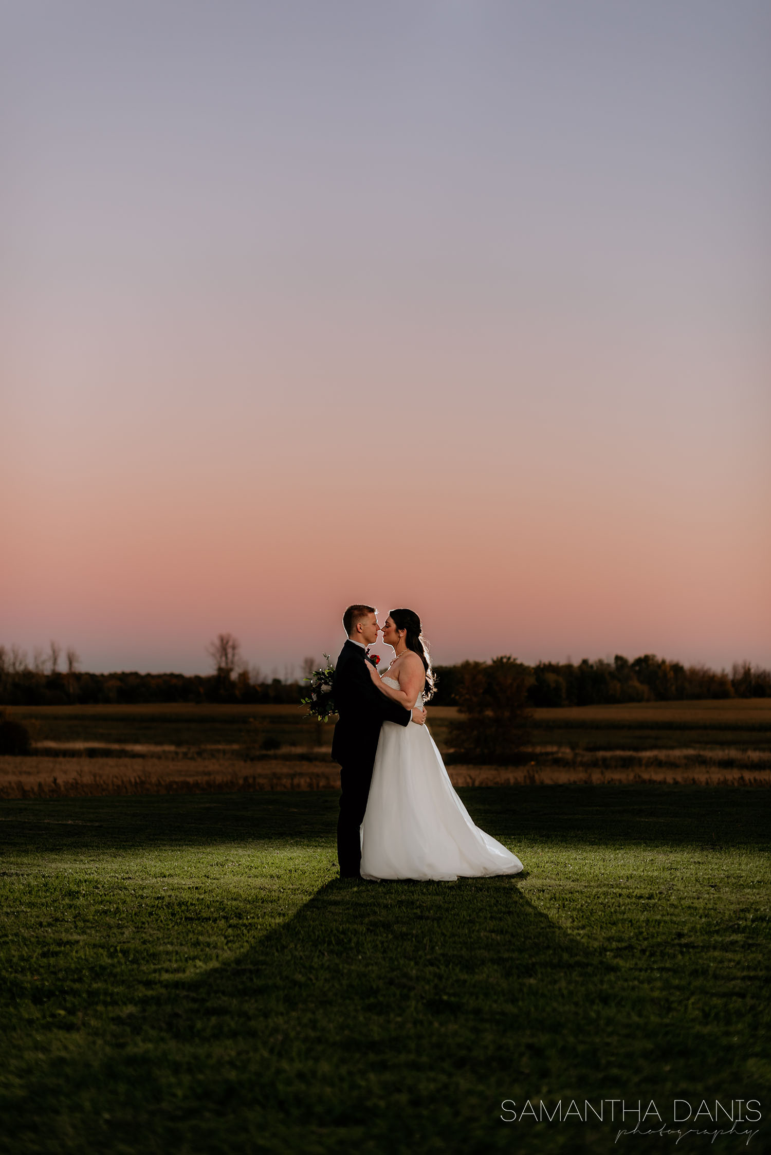 sunset portraits Strathmere Ottawa Wedding Photographer