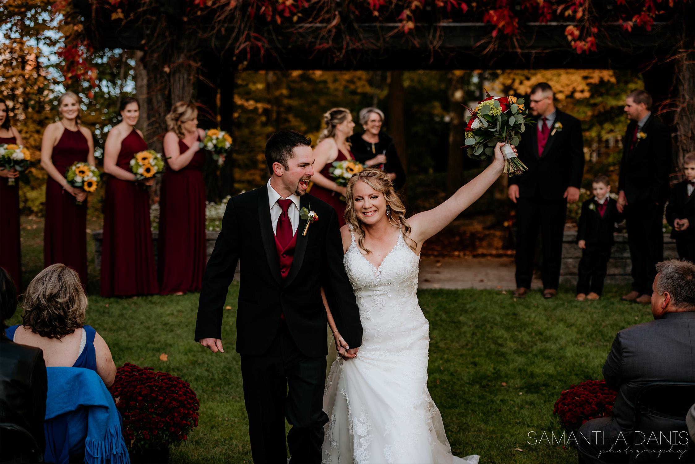 loch march golf club fall wedding ottawa bride samantha danis photography