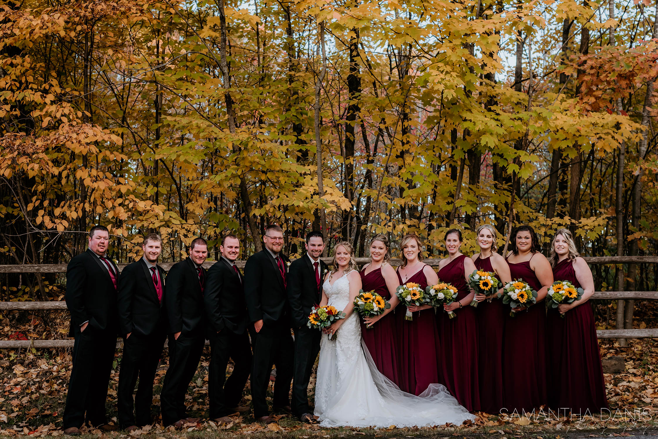 wedding party golf course ottawa wedding Loch March