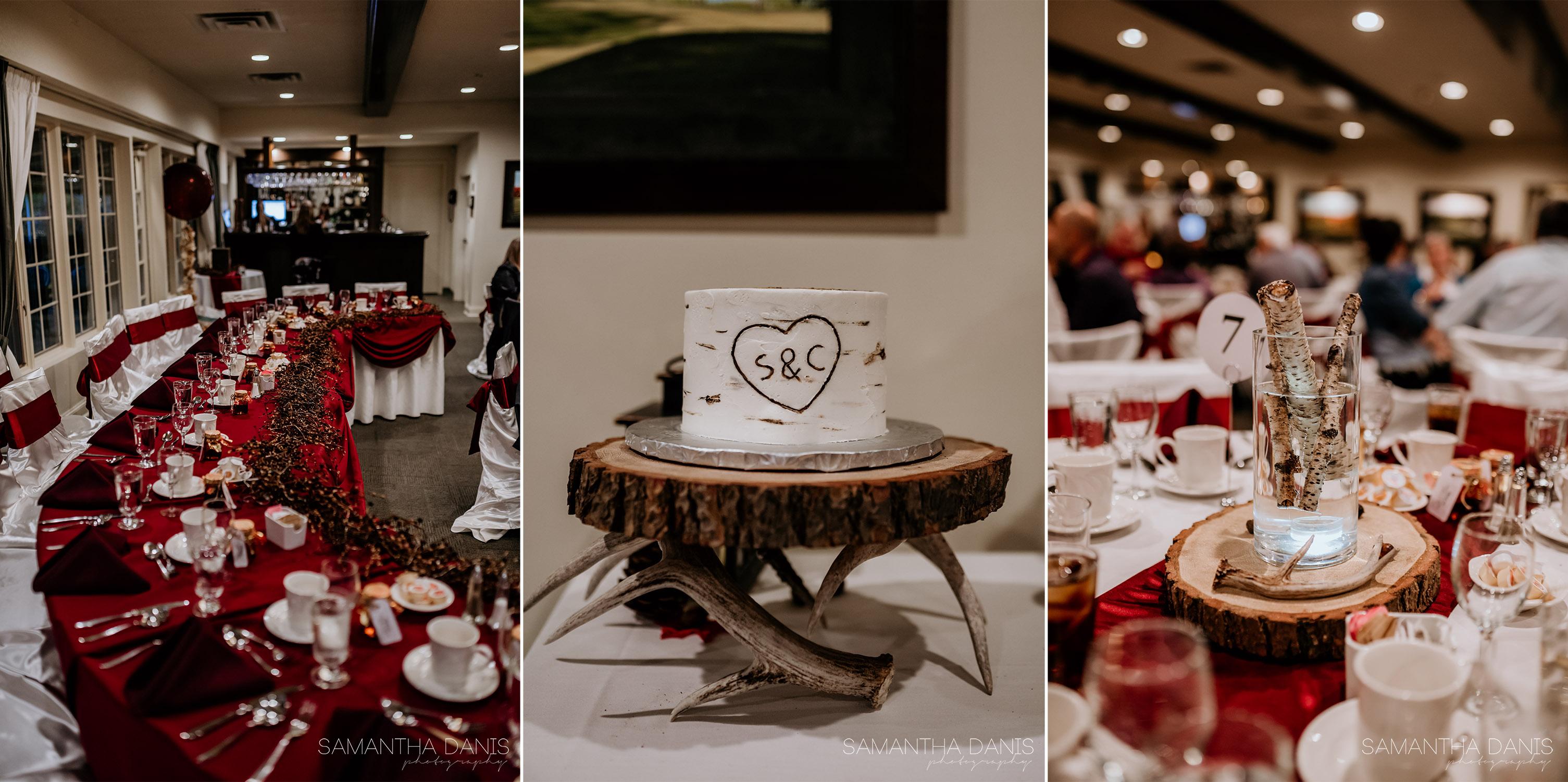 loch march golf wedding ottawa fall wedding samantha danis photography