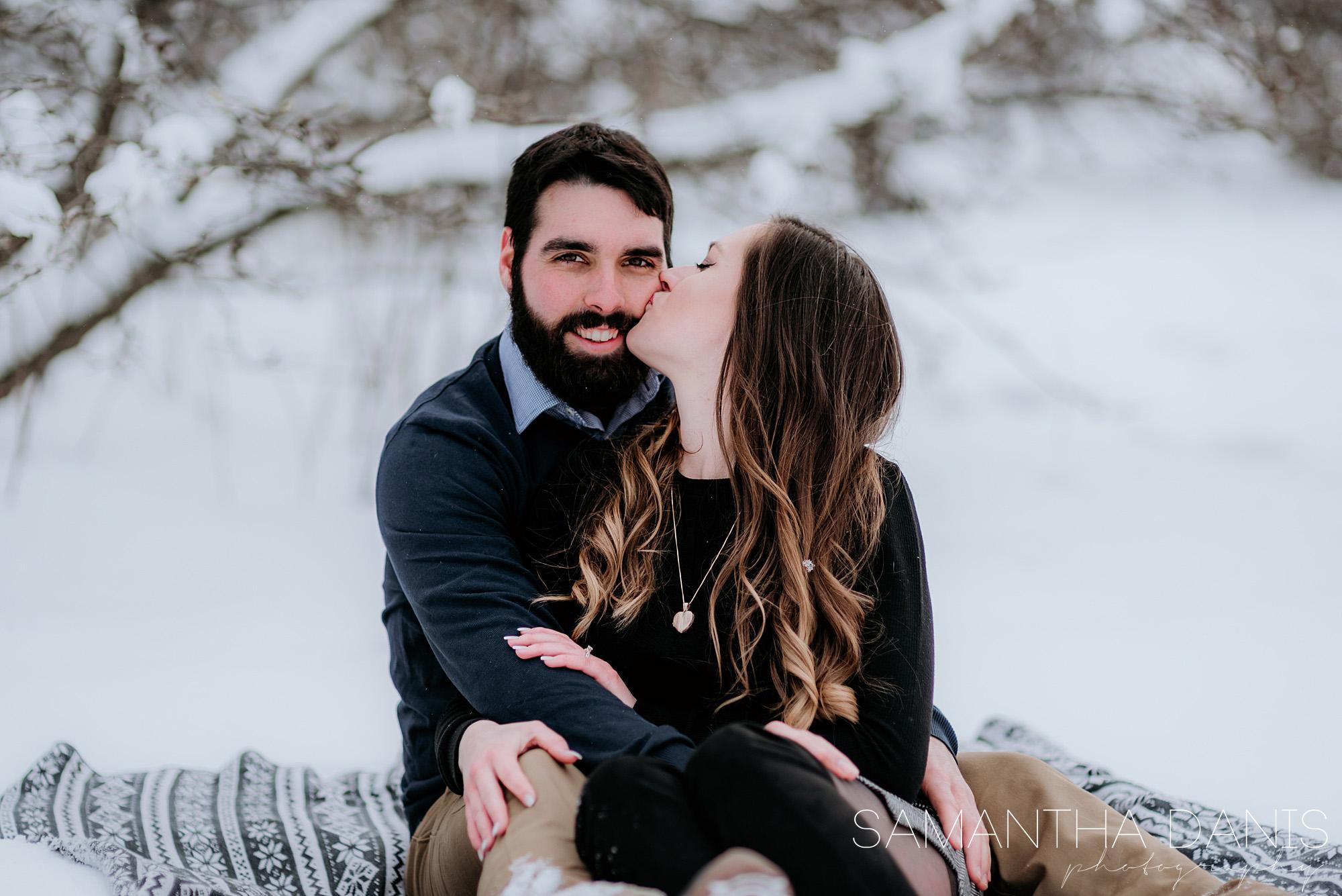 Ottawa winter engagement wedding photographer samantha danis photography