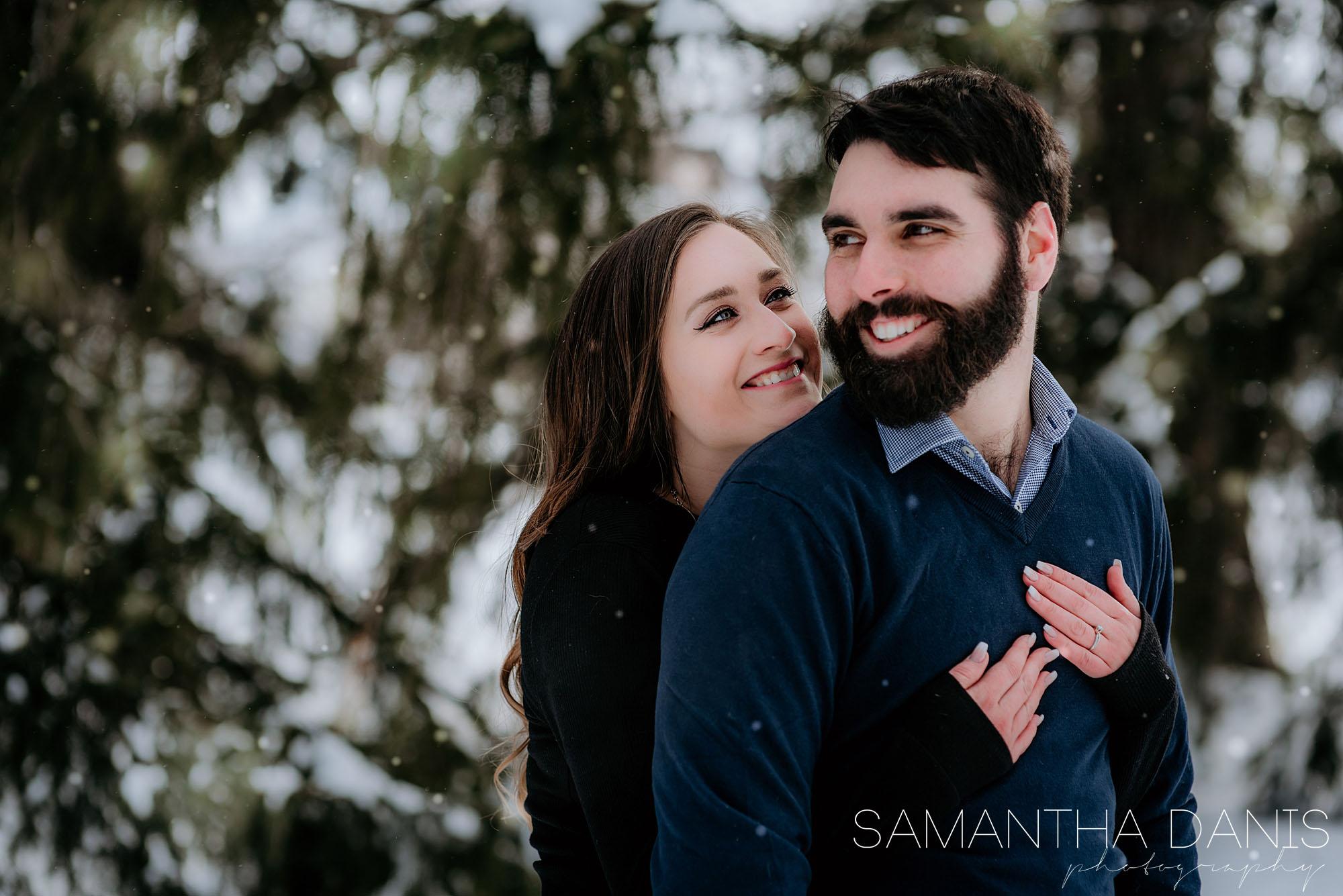 Valerie and Simon Ottawa winter wedding Dominion Arboretum